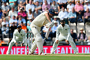 Alastair Cook of England, who retiring at the end of the series, batting during the first day of the 4th SpecSavers International Test Match 2018 match between England and India at the Ageas Bowl, Southampton, United Kingdom on 30 August 2018.