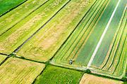 Nederland, Utrecht, Gemeente De Bilt, 26-06-2013; polder Achtteinhoven, tussen Westbroek en Hollandsche Rading.<br /> Maaien van het gras.<br /> Cutting and harvesting grass.<br /> luchtfoto (toeslag op standaard tarieven);<br /> aerial photo (additional fee required);<br /> copyright foto/photo Siebe Swart.