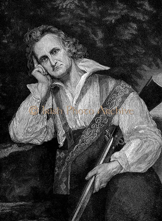John James Audobon (1780-1851) American ornithologist and artist. Engraving of Audubon in hunting dress.