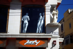 In Msida, nude male mannequins, inadvertently placed in a compromising position, in addition to being alongside a religious statue, have gone un-noticed and uncommented on for weeks..