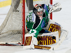 Goalie Jan Chabera (HDD Tilia Olimpija, #32) during ice-hockey match between HDD Tilia Olimpija and EC KAC in 32nd Round of EBEL league, on December 30, 2010 at Hala Tivoli, Ljubljana, Slovenia. (Photo By Matic Klansek Velej / Sportida.com)