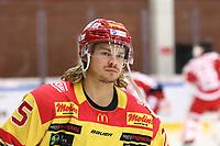 2019-10-02 | Ljungby, Sweden: Kalmar HC (25) Eric Backman during the game between IF Troja / Ljungby and Kalmar HC at Ljungby Arena ( Photo by: Fredrik Sten | Swe Press Photo )<br /> <br /> Keywords: Ljungby, Icehockey, HockeyEttan, Ljungby Arena, IF Troja / Ljungby, Kalmar HC, fstk191002, ATG HockeyEttan
