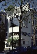 MAISON OZENFANT (HOUSE OF OZENFANT), 53 AVE REILLE, PARIS, FRANCE, LE CORBUSIER & AMEDEE OZENFANT, EXTERIOR, EXTERIOR VIEW FROM ROAD