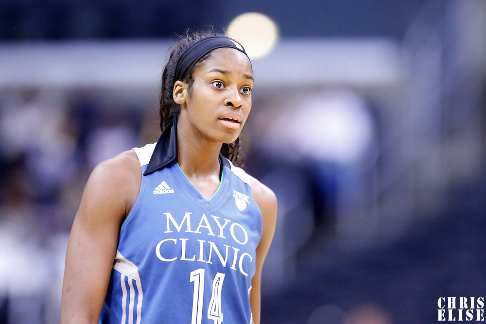 17 June 2014: Minnesota Lynx forward Devereaux Peters (14) is seen during the Minnesota Lynx  94-77 victory over the Los Angeles Sparks, at the Staples Center, Los Angeles, California, USA.