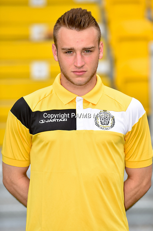 20150626 - LOKEREN, BELGIUM: Lokeren's Preben De Man pictured during the 2015-2016 season photo shoot of Belgian first league soccer team Sporting Lokeren, Friday 26 June 2015 in Lokeren. BELGA PHOTO LUC CLAESSEN