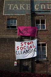 Borough's £3m sold council house occupied by protesters. <br /> Housing Action Southwark and Lambeth said it was staging a political protest. Protesters have moved into a south London council house that was sold at auction for almost £3 million on Monday 28th October 2013.<br /> London, United Kingdom, Wednesday, 30th October 2013. Picture by Daniel Leal-Olivas / i-Images
