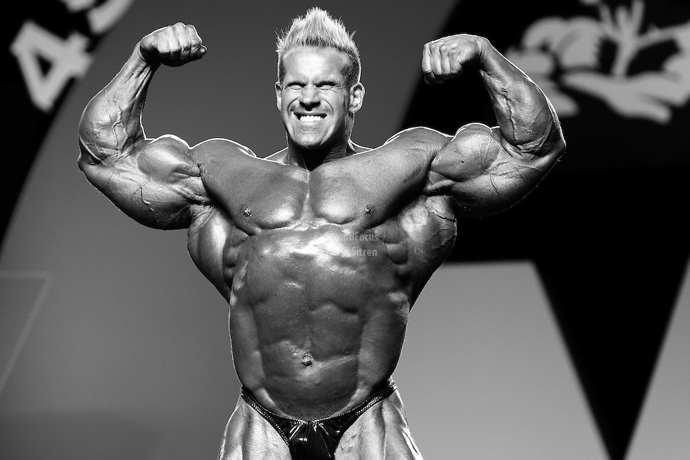 Jay Cutler defending his title competing at the 2010 Mr. Olympia finals in Las Vegas.
