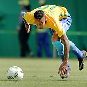 Football - Olympics: Day 12   Neymar #10 of Brazil in action during the Brazil Vs Honduras Men's Semifinal match at Maracana Stadium on August 17, 2016 in Rio de Janeiro, Brazil. (Photo by Tim Clayton/Corbis via Getty Images)