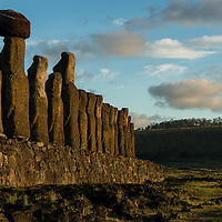Easter Island is one of the most remote inhabited islands in on Earth.  The island is famous for moai which are huge stone carved humanoid statues.