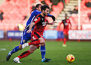 Crawley Town Midfielder Ross Jenkins with the ball in midfield during the Sky Bet League 2 match between Crawley Town and Notts County at the Checkatrade.com Stadium, Crawley, England on 16 January 2016. Photo by David Charbit.