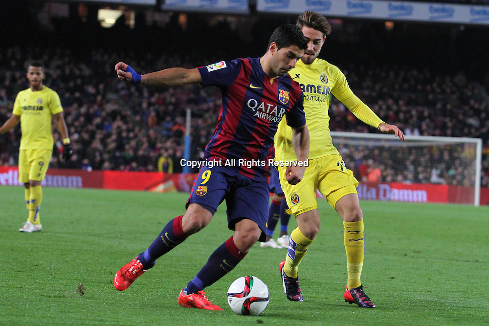 11.02.2015 Barcelona, Spain. Spanish Cup , Semi-final.  Luis Suarez in Action during game between FC Barcelona against Villareal at Camp Nou