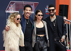Lionel Richie, Sofia Richie, Miles Richie and Nicole Richie at Lionel Richie Hand And Footprint Ceremony held at the TCL Chinese Theatre in Hollywood, USA on March 7, 2018.