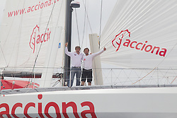 ACCIONA 100% EcoPowered . Antartic explorers .Ramon Larramendi and Javier Selva , play a visit to Javier Sanso in Mallorca.