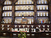 In the centre of Leon there were some very old shops. This pharmacy near the cathedral had been in operation for a long time and had some of the original medicine bottles on display.