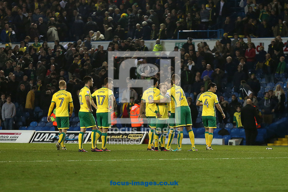 The Norwich players look dejected at the end of the EFL Cup match at Elland Road, Leeds<br /> Picture by Paul Chesterton/Focus Images Ltd +44 7904 640267<br /> 25/10/2016