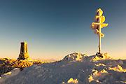 Shipka memorial in clod winter morning