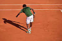 Dessin de Gael MONFILS sur Terre Battue  - 27.05.2015 - Jour 4 - Roland Garros 2015<br />Photo : Dave Winter / Icon Sport