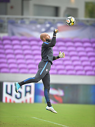October 5, 2017 - Orlando, FL, USA - Orlando, FL, Thursday, October 5, 2017: Tim Howard during practice before a World Cup Qualifying match with Panama, at Orlando City Stadium. (Credit Image: © John Todd/ISIPhotos via ZUMA Wire)