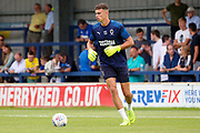 AFC Wimbledon goalkeeper Nicola Tzanev (13) warming up during the EFL Sky Bet League 1 match between AFC Wimbledon and Rotherham United at the Cherry Red Records Stadium, Kingston, England on 3 August 2019.
