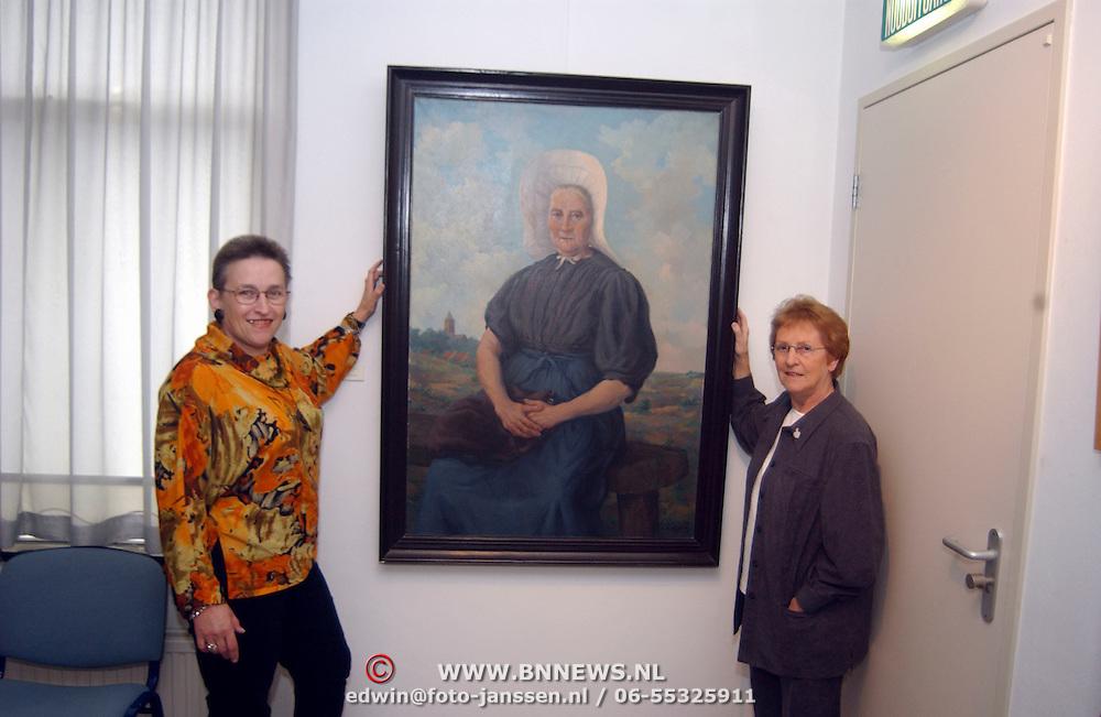 Vrouw onbekend schilderij Huizer Museum herkend door Mw. van der Schaal