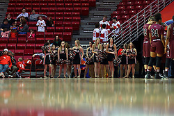 29 January 2017: Redline Dancers during an College Missouri Valley Conference Women's Basketball game between Illinois State University Redbirds the Salukis of Southern Illinois at Redbird Arena in Normal Illinois.