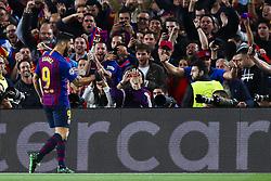 May 1, 2019 - Barcelona, Catalonia, Spain - May 1, 2019 - Barcelona, Spain - Uefa Champions League 1/2 of final second leg, FC Barcelona v Liverpool FC: Luis Suarez of FC Barcelona celebrates the 1-0. (Credit Image: © Marc Dominguez/ZUMA Wire)