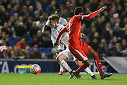 Solly March, Solomon March (Brighton & Hove Albion), England U21 during the UEFA European Championship Under 21 2017 Qualifier match between England and Switzerland at the American Express Community Stadium, Brighton and Hove, England on 16 November 2015. Photo by Phil Duncan.