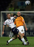 Photo: Paul Thomas/Sportsbeat Images.<br /> Preston North End v Hull City. Coca Cola Championship. 04/12/2007.<br /> <br /> Brett Ormerod (L) of Preston tries to stop Wayne Brown.