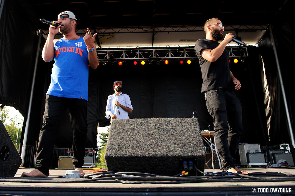 Das Racist performing at the LouFest Music Festival in St. Louis on August 28, 2011.