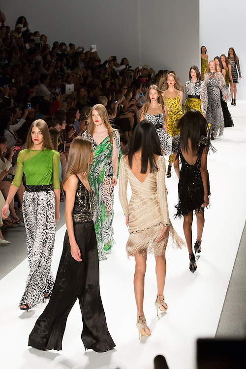 The finale of the Spring 2013 Fashion Week show in New York by Carlos Miele.