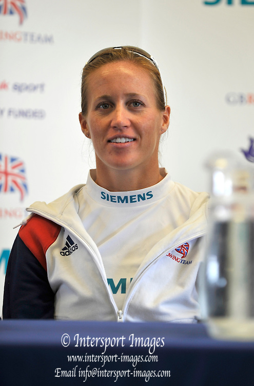 Reading, Great Britain,   GBR W2-. Helen GLOVER. 2011 GBRowing World Rowing Championship, Team Announcement. Press Conference.  GB Rowing  Caversham Training Centre.  Tuesday  19/07/2011  [Mandatory Credit. Peter Spurrier/Intersport Images]