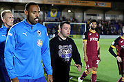 mascot during the EFL Sky Bet League 1 match between AFC Wimbledon and Bradford City at the Cherry Red Records Stadium, Kingston, England on 2 October 2018.