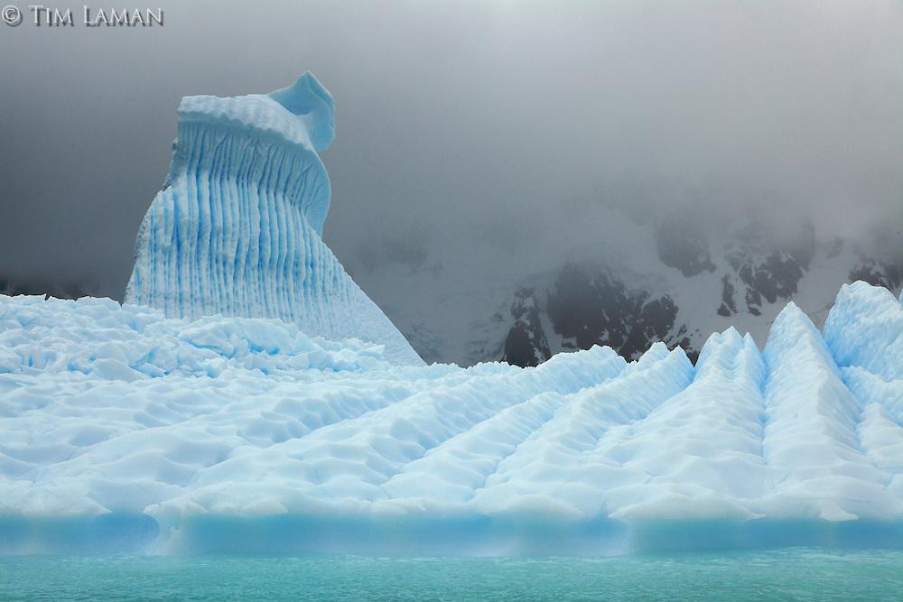 Grounded icebergs near Pleneau Island, Antarctica