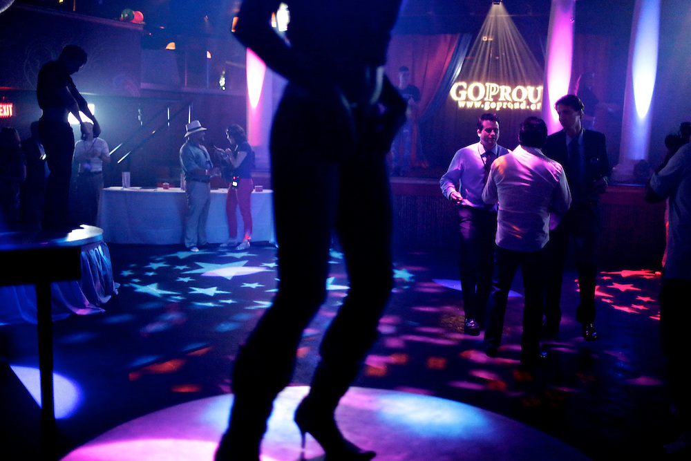 Dancers entertain the audience during Homocon 2012 at The Honey Pot in Tampa, Fla. Homocon, a party for gay conservatives, was held during the 2012 Republican National Convention in Tampa, Fla. and sponsored by GOProud. Photo by Greg Kahn