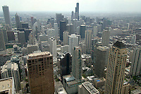 Downtown Chicago View from John Hancock Observatory, Chicago, Illinois