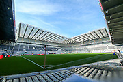 A general view of St James' Park ahead of the Premier League match between Newcastle United and Huddersfield Town at St. James's Park, Newcastle, England on 23 February 2019.