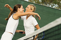 Tennis Players Hugging Each Other After Match