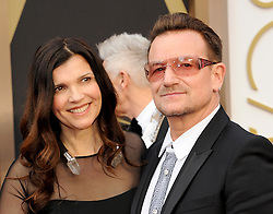 Ali Hewsonon with Bono arriving to the 2014 Oscars at the Hollywood and Highland Center in Hollywood, California, USA,  Sunday, 2nd March 2014. Picture by Hollywood Bubbles / i-Images<br /> UK ONLY