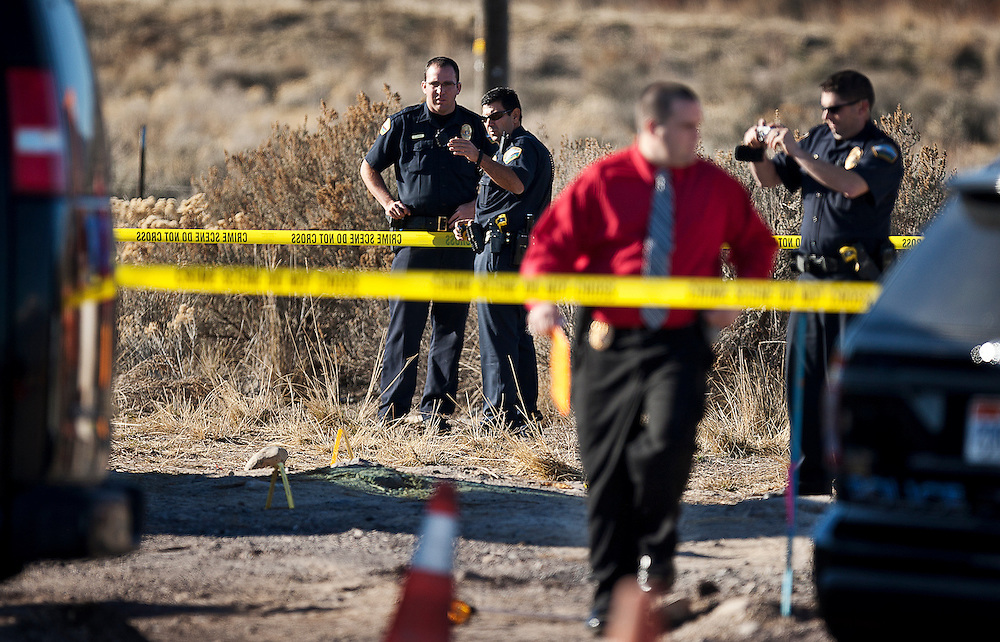 Police investigate at the scene of a construction accident in Saratoga Springs where a 31-year old male died as the result of his injuries from a piece of heavy roadway machinery, Tuesday, Nov. 27, 2012.