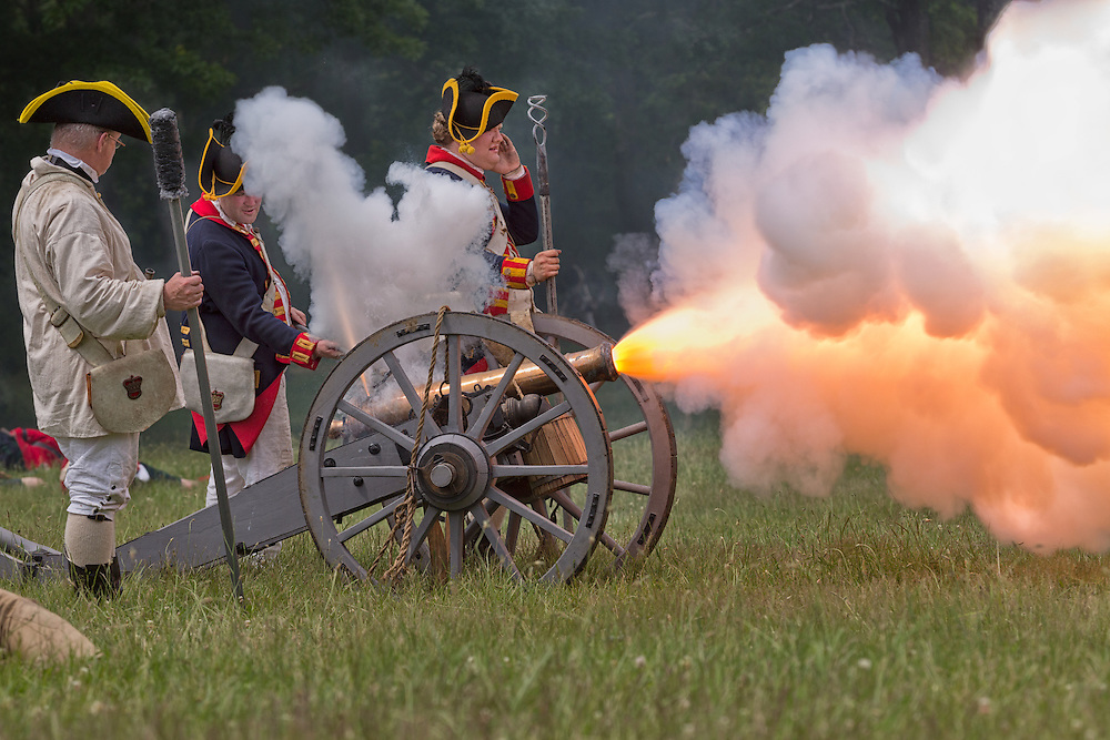Battle of Monmouth Revolutionary War reenactment, Monmouth Battlefield State Park, Manalapan, New Jersey