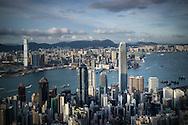 Aerial view of Hong Kong, China, Asia
