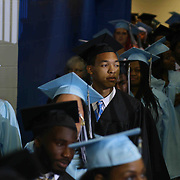 John Dickinson High School graduates participates in a graduation processional during John Dickinson 55th commencement exercises Saturday, June 06, 2015, at The Bob Carpenter Sports Convocation Center in Newark, Delaware.