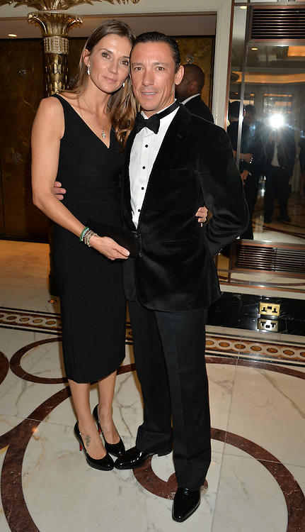 FRANKIE DETTORI and his wife CATHERINE at the 24th Cartier Racing Awards held at The Dorchester, Park Lane, London on 11th November 2014.