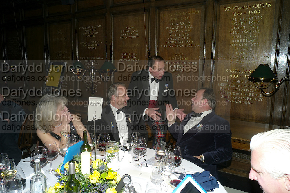 CHARLIE WILLIS; MARK SOMERS; ROBIE CRITTALL; , Charity Dinner in aid of Caring for Courage The Royal Scots Dragoon Guards Afganistan Welfare Appeal. In the presence of the Duke of Kent. The Royal Hospital, Chaelsea. London. 20 October 2011. <br /> <br />  , -DO NOT ARCHIVE-© Copyright Photograph by Dafydd Jones. 248 Clapham Rd. London SW9 0PZ. Tel 0207 820 0771. www.dafjones.com.