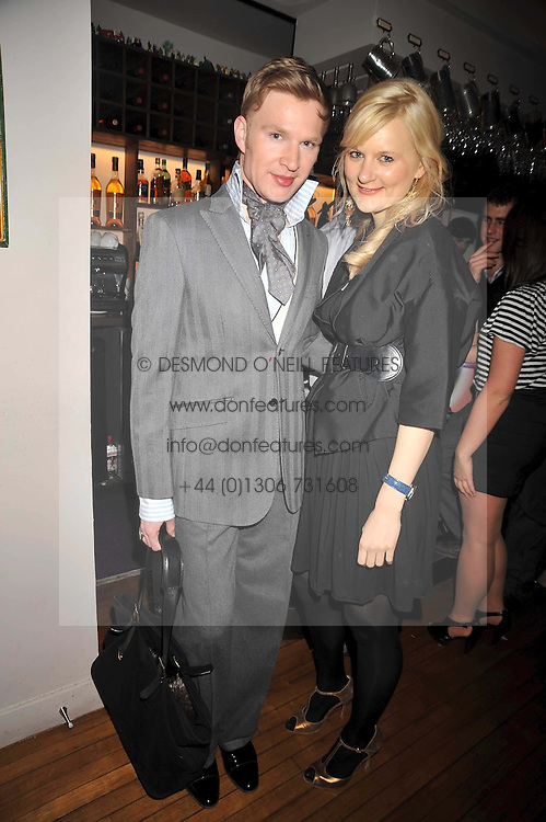 HENRY CONWAY and ALEXA INGE at a party for Glenmorangie hosted at Barts,  Sloane Avenue, London on 26th March 2009.