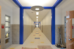 Hanover Elementary School - Kindergarten Addition<br /> James R Anderson Photographer | photog.com 203-281-0717<br /> Andrade Architects, LLC. Enfield Builders, Inc.<br /> Photography Date: 9 October 2012<br /> Camera View: Looking North, Hallway South end<br /> Image Number 08