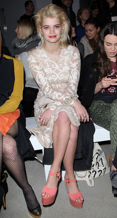 Pixie Geldof  at the Jonathan Saunders show  at London Fashion Week A/W 2012. Sunday ,19th February 2012. Photo by: Stephen Lock / i-Images