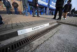 The Empty Car Park space of Carson Yeung. - Photo mandatory by-line: Alex James/JMP - Tel: Mobile: 07966 386802 05/03/2014 - SPORT - FOOTBALL - Cardiff - Cardiff City Stadium - Wales v Iceland - International Friendly