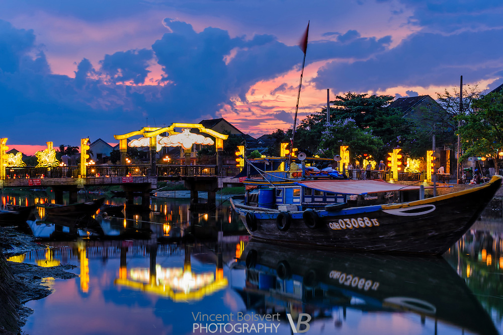 Hoi An Ancient Town at dusk