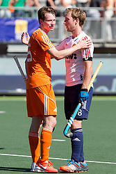 THE HAGUE - Rabobank Hockey World Cup 2014 - 13-06-2014 - MEN - SEMI-FINAL THE NETHERLANDS - ENGLAND 1-0 - Barry Middleton en Seve van Ass.<br /> Copyright: Willem Vernes